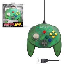 Retro-Bit Tribute N64 USB Controller for PC/Mac, Nintendo Switch - Green
