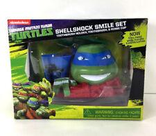 Ninja Turtles LEONARDO Smile Travel TOOTHBRUSH Rinse Cup Holder SET Kids Gift