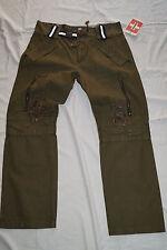 Swiss CHRISS Donna oliva Pantaloni verde taglia L