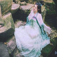 Ancient Hanfu Chinese Style Cosplay Costume Long Robe Fairy Skirt Dress Lit01