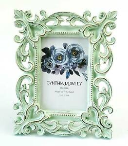 Photo Frame Cynthia Rowley Light Green Baroque Scrollwork For 4x6 Picture