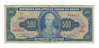 500 Cruzeiros Brasilien 1962 C047 / P.172b - Brazil Banknote