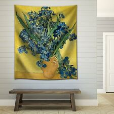 "Wall26 - ""Irises"" by Vincent van Gogh - Fabric Tapestry, Home Decor - 51x60"