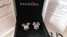 Pair Of Disney Mickey and Minnie Mouse PANDORA Charms S925 ALE *RRP £35 each*