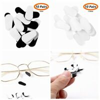 10 Pairs 1/2mm Silicone Anti-Slip Nose Pads Grips Self Adhesive For Sunglasses