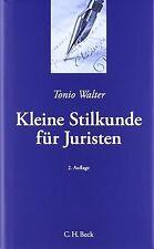 Kleine Stilkunde für Juristen von Walter, Tonio   Buch   Zustand sehr gut