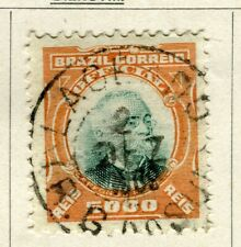 BRAZIL; 1906 early Penna Official issue fine used 5000r. value