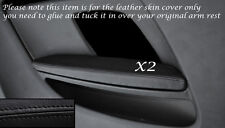 BLACK LEATHER 2X REAR DOOR CARD ARMREST LEATHER COVERS FITS AUDI A5 07-14 3 DOOR
