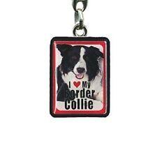 Border Collie Metal Keyring, House Keys, Car Keys, Gifts for Dog Owners PEK009