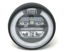 """LED Motorbike Headlight Black 6.5"""" inch 12V for Retro Cafe Racer & Streetfighter"""