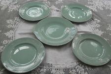 Woods Beryl Ware Green Cake Sandwich Plate+4 side plates 1940s/50s WW2 Utility