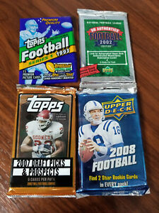 1993, 2002, 2007, 2008 NFL Football 4 pack special - see details