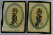 Pair of Vintage Framed Prints of Captain & Commander 26cm x 19.3cm.