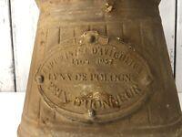 French Farmhouse Metal Bucket Lynx De Pologne Prix D'Honneur 1957