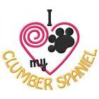 I Heart My Clumber Spaniel Ladies Short-Sleeved T-Shirt 1352-2 Size S - XXL