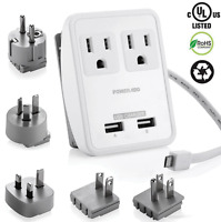 Dual USB UK/AU/EU/JP/US Universal Travel AC Power Charger Adapter Plug Converter