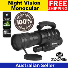 Rongland, Night Vision Monocular - 7x Zoom, 1000m Range, Built-in Camera