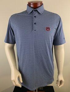 UNDER ARMOUR Men's UA Playoff Auburn Tigers Striped Golf Polo Shirt Size L
