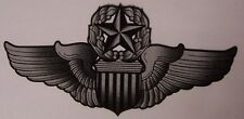 Window Bumper Sticker Military Air Force Command Pilot Wings NEW Decal no text
