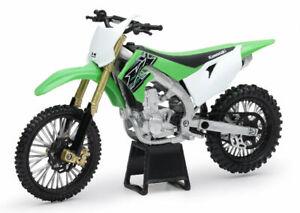 1:12 Kawasaki KX450 Green NewRay Motorcycle Dirt Bike #SS-44091 Diecast Model