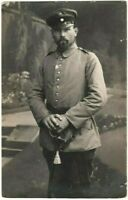 GERMAN OFFICER SWORD WW1 FEARLESS NICE IMAGE MILITARY RPPC PHOTO POSTCARD