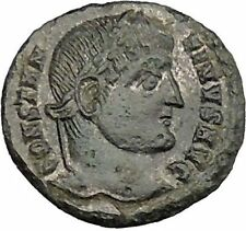 CONSTANTINE I the GREAT Silvered  Ancient Roman Coin Military Camp gate  i39259