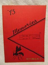 1973 Yearbook Elberfeld Junior High School IN Kindergarten Thru 8th Grade