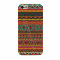 iPhone 5 5S SE Case Aztec M4 Tribal Tribe Retro Hard Case Cover for Apple