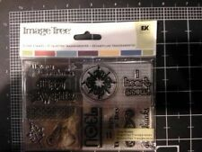 Winter Image Tree card set Clear Stamps -  RARE - Yellowed - Ek success