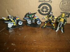 4 Bandai Saban's Masked Rider 3in Mini Collectible Action Figure 1995 Used Loose