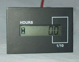 Hourmeter, digital LCD display, 12v-48v DC model 701   DHM1248-701LN