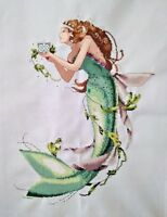 "New Completed finished cross stitch needlepoint""Mermaid""home decor gift C55"