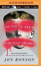 So You've Been Publicly Shamed Unabridged Jon Ronson AUDIO BOOK CD MP3 shaming