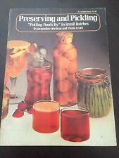 """Preserving and Pickling"" Jacqueline Heriteau (Softcover, 1976) Small Batches"