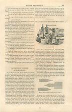 Fabrication des plumes métalliques laminage acier estampage bombage GRAVURE 1859