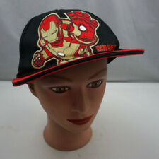 Marvel Iron Man Hat Black Kids Stitched Snapback Baseball Cap Pre-Owned ST218