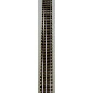 "Gargraves 202 O Gauge 3 Rail 37"" Bright Rail Stainless Wood Tie Flex Track"