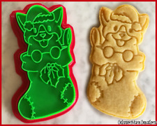 Corgi Dog Christmas Stocking Cute Cookie Cutter Biscuit Stamp Ceramics DIY