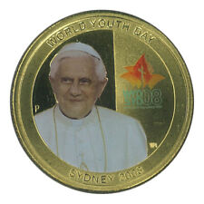 Australia 2008 World Youth Day Sydney Pope $1 Dollar Coloured UNC Coin Carded