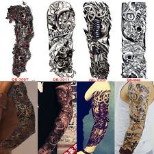 4PCS Full Arm Sleeve Temporary Tattoos Body Art Disposable Sticker Waterproof