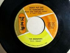 MOTOWN SOUL 45: MONITORS Since I Lost You Girl/Don't Put Off 'Til Tomorrow V.I.P