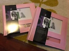 2 Pink Baby Albums -  Holds 200 Photos 4x6 With Memo Space