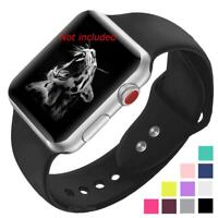 Soft Silicone Watch Strap Band For Apple iWatch Series 1 2 3 4 38/40 42/44 mm