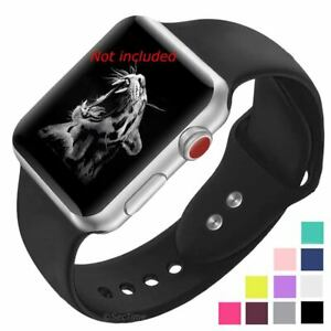 Smooth Silicone Watch Strap Band For Apple iWatch 1 2 3 4 5 38/40 42/44 mm