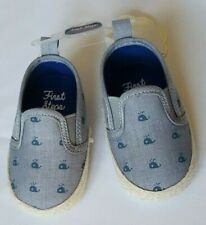 First Steps By Stepping Stones Whales Baby Boys' Shoes Color Gray/Blue
