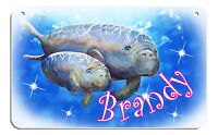 Manatees Bicycle License Plate Personalize Gifts Boys Girls Bike Any Name-Text