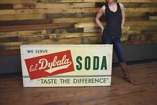 Vintage Dybala's Beverages Soda Advertising Sign General Store EARLY RARE Cola