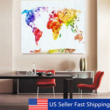 Art deco world map home dcor posters prints ebay 50x35cm retro world map art canvas print wall painting picture mural home decor gumiabroncs Image collections