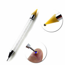 1Pc Dual-ended Dotting Pen Nail Art Rhinestone Picker Wax Pencil Bead Handle FR