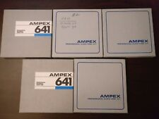 "LOT 5 Ampex 641 Used VTG Professional Recording Audio Tape 5"" Reels 1/4 x 900'"